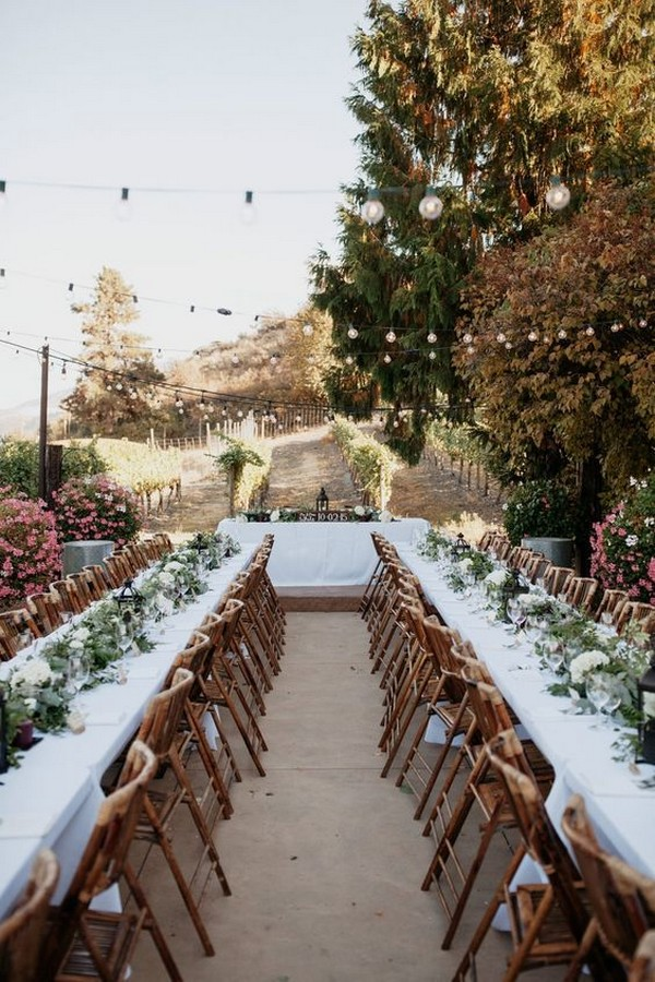 long table country wedding reception ideas