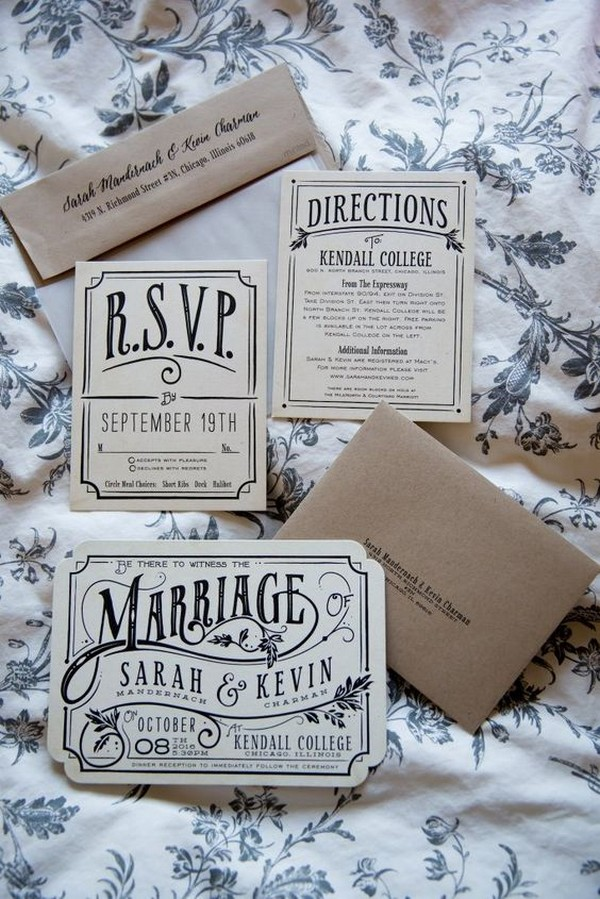 magical Harry Potter themed wedding invitations