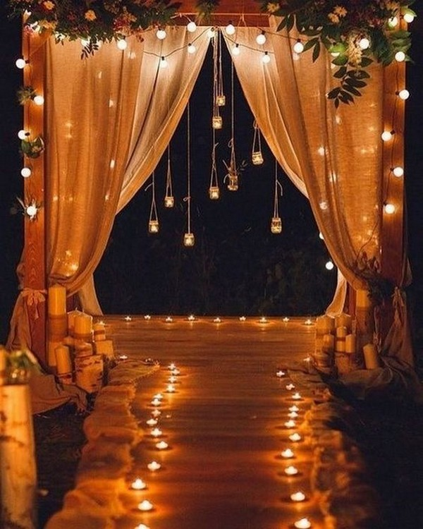 18 Fancy Wedding Decoration Ideas With Hanging Candles