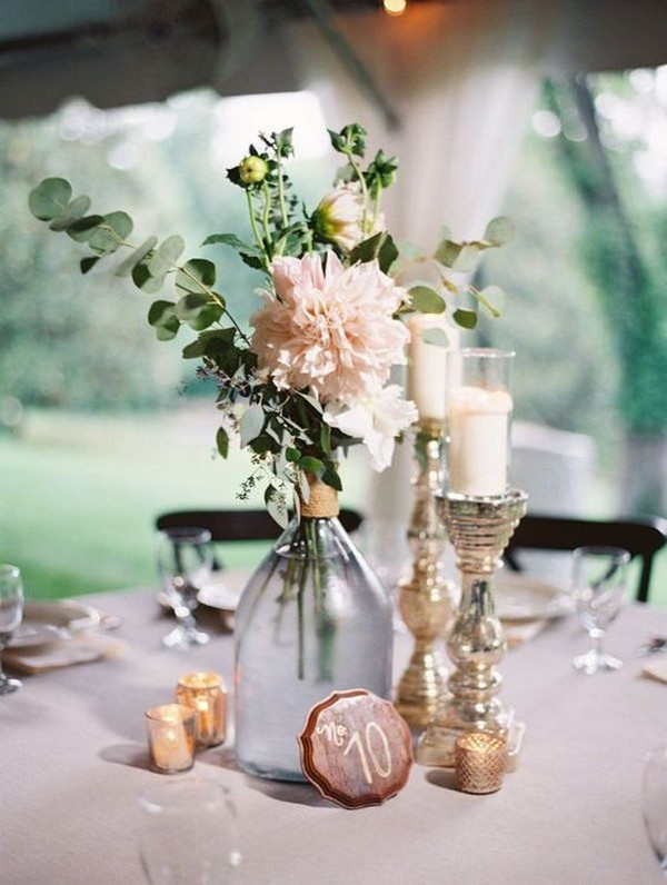 simple elegant wedding centerpiece ideas with candles