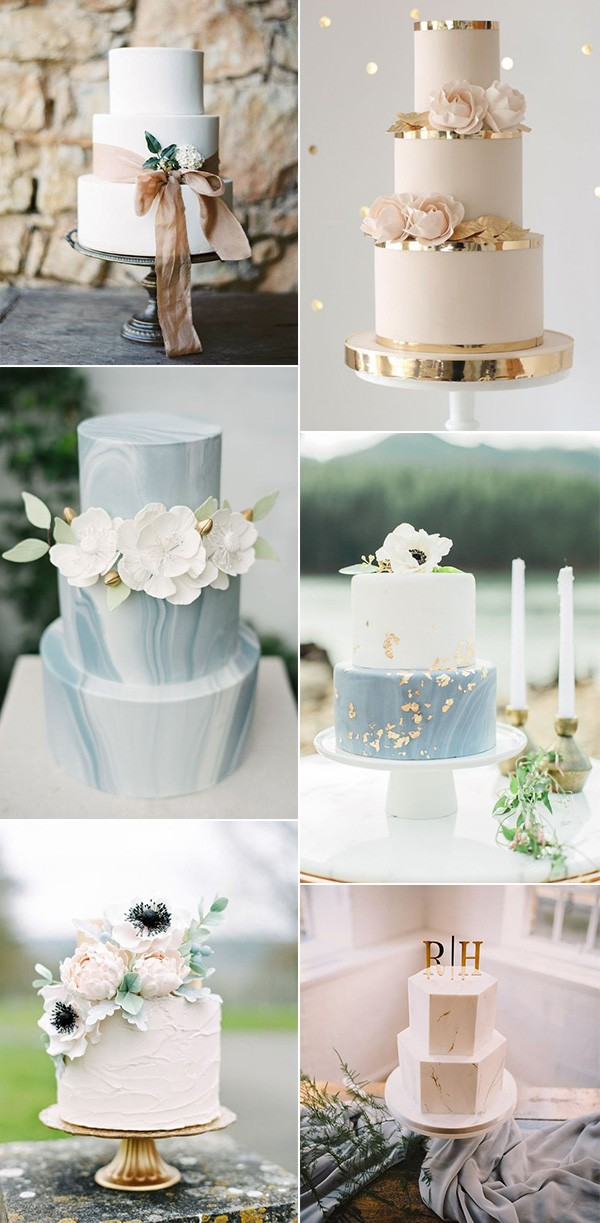 simple spring summer wedding cakes for 2019