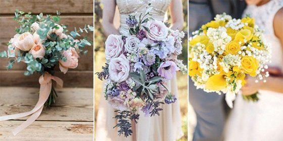 spring summer wedding bouquets