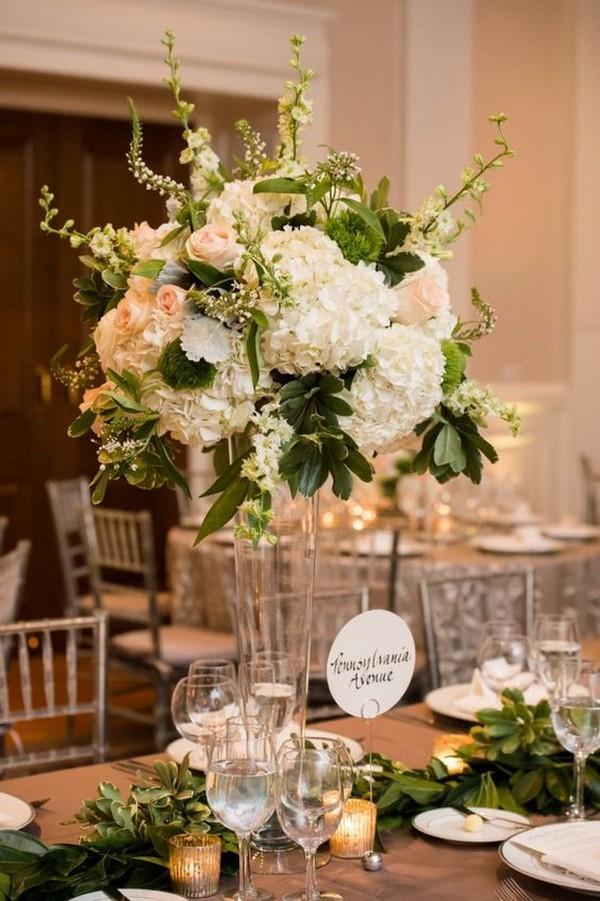 summer tall wedding centerpiece ideas