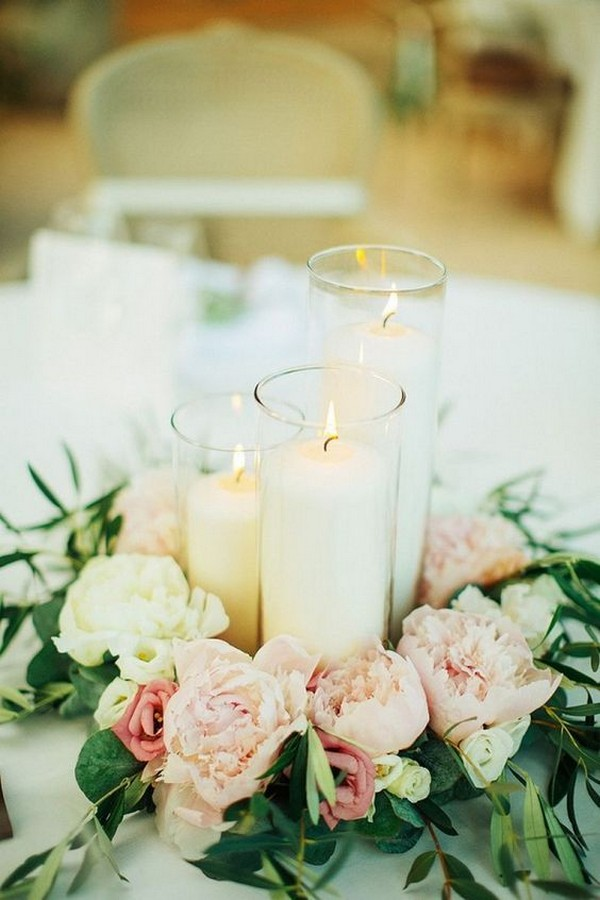 summer wedding centerpiece ideas with candles