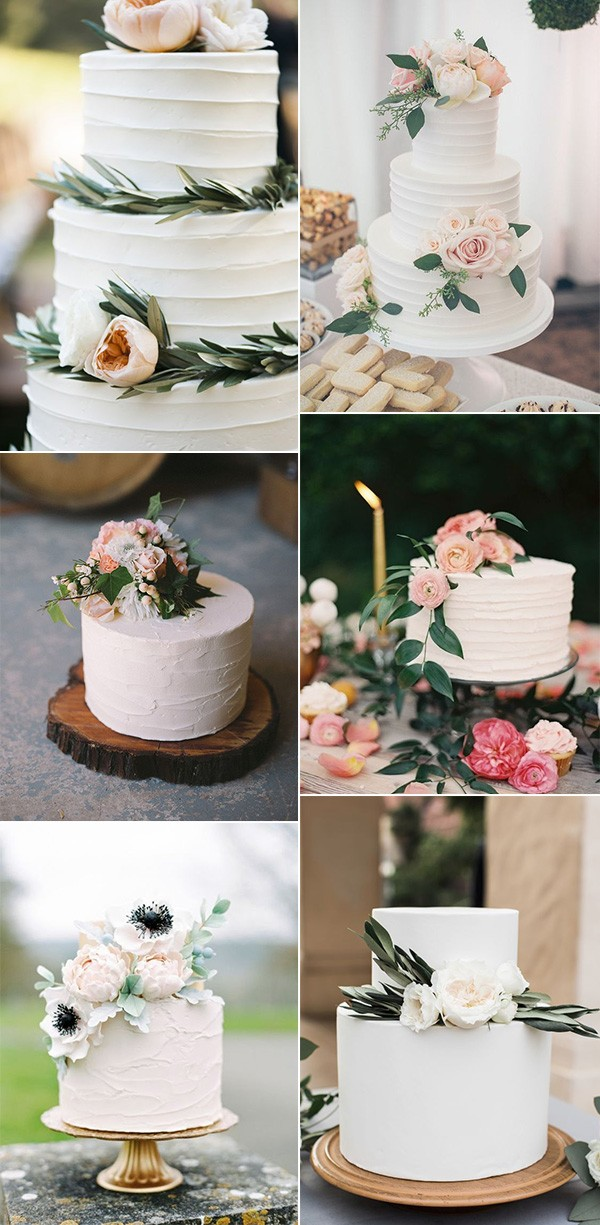 trending simple wedding cakes for spring and summer