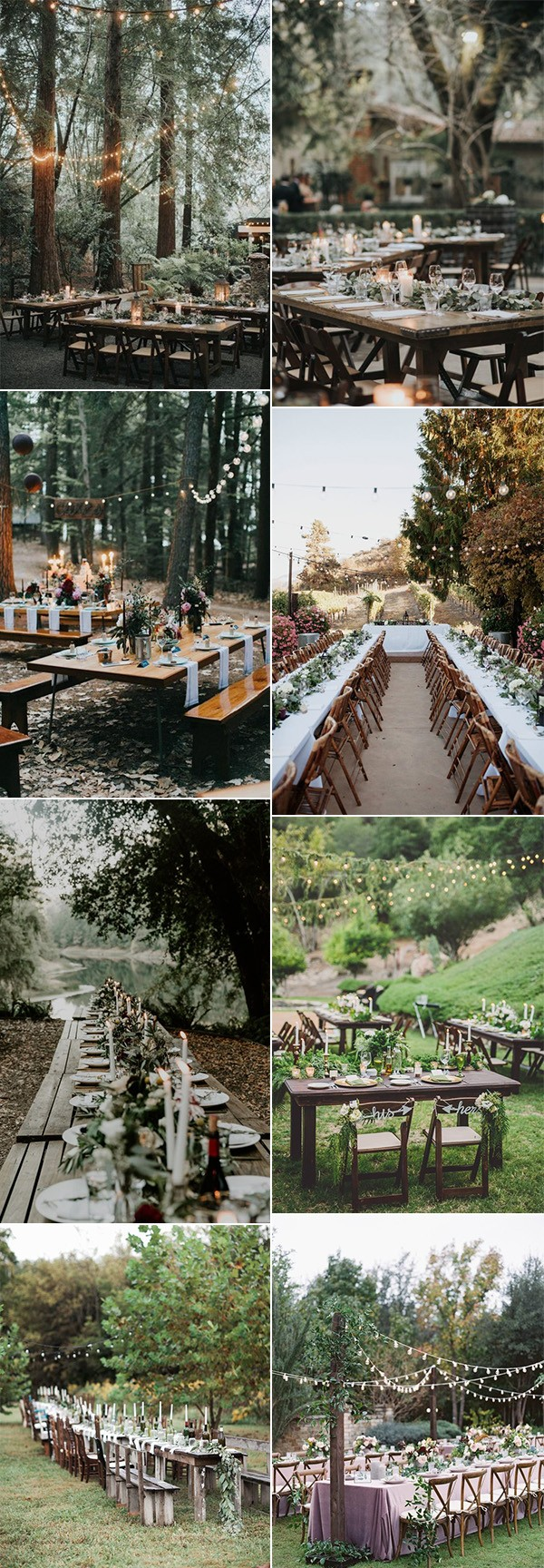 trending woodsy forest wedding reception ideas for 2019