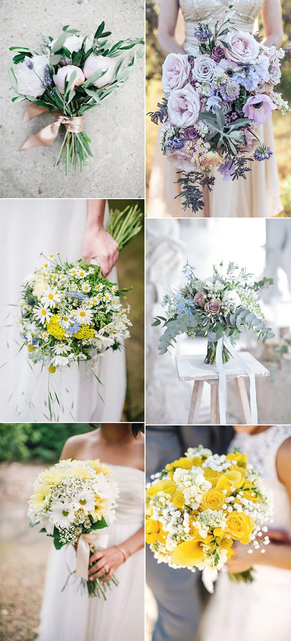 wedding bouquet ideas for spring and summer seasons