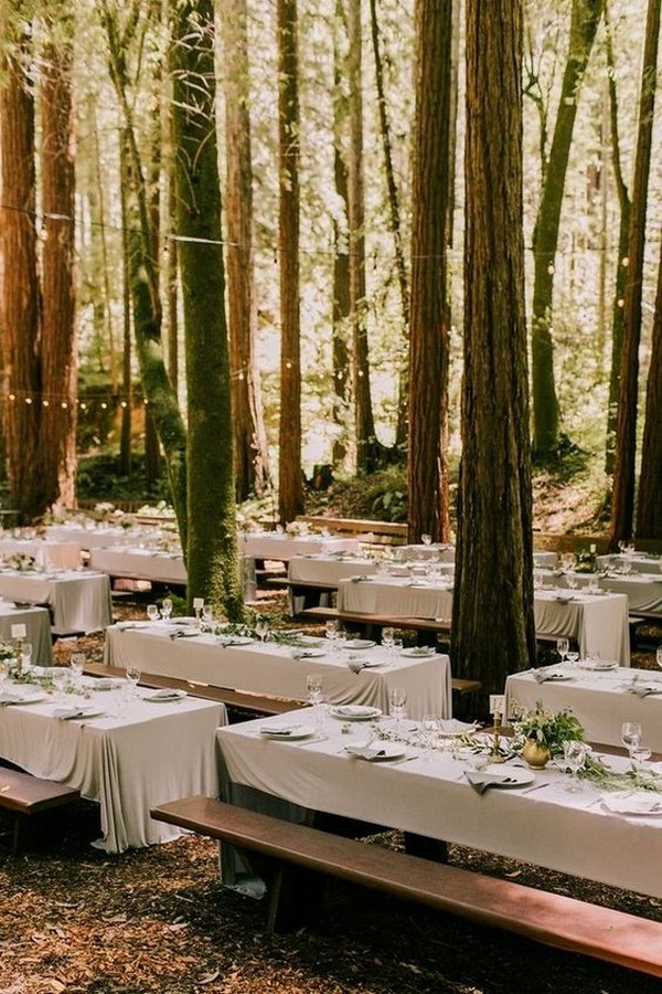 whimsical forest wedding reception ideas