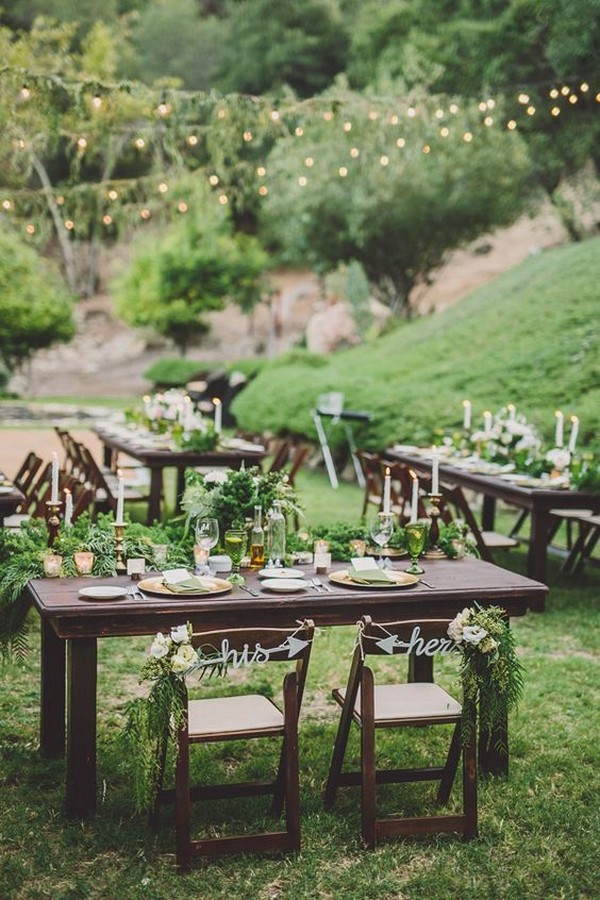 woodsy wedding reception decoration ideas