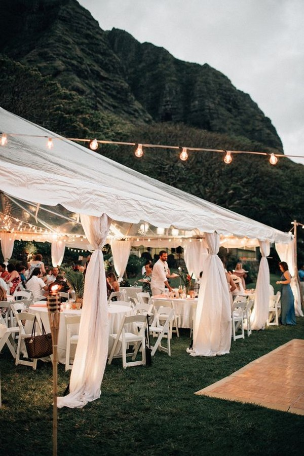 beach tented wedding reception ideas