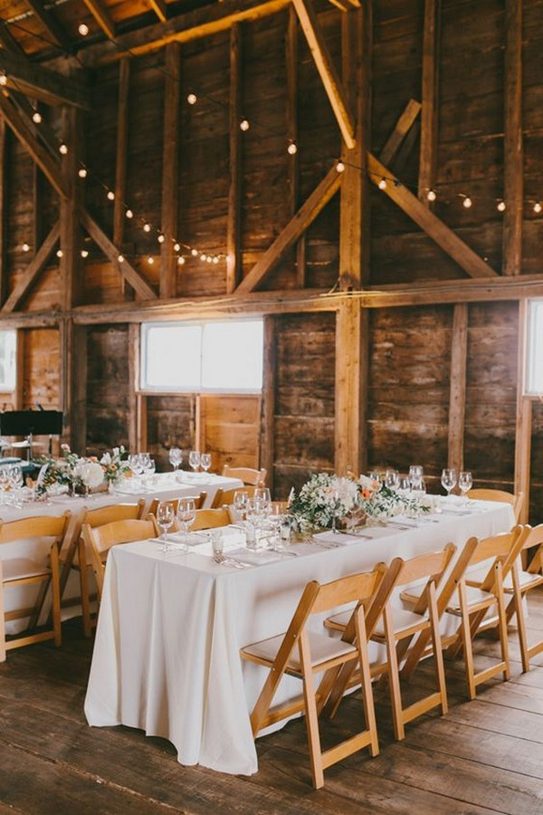 chic simple barn wedding reception ideas