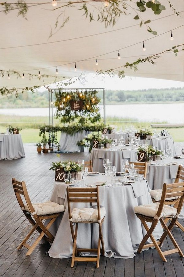 chic wedding reception ideas under tent