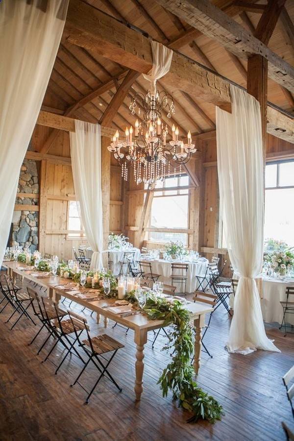 country rustic barn wedding reception decoration ideas