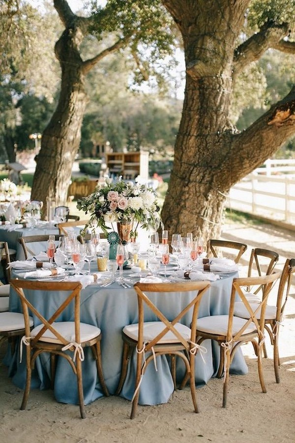 country rustic outdoor wedding reception ideas