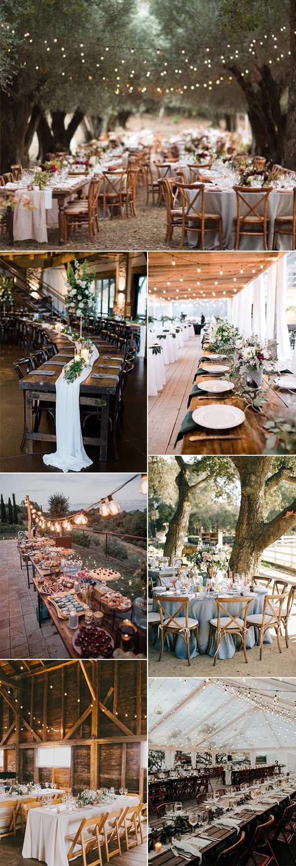 country rustic wedding reception decoration ideas