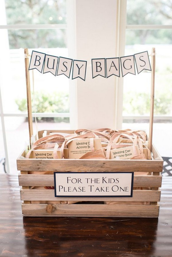 creative busy bags wedding favor for children