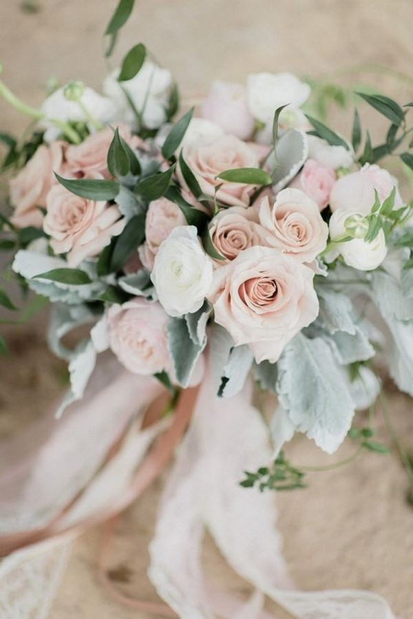 elegant blush pink wedding bouquet