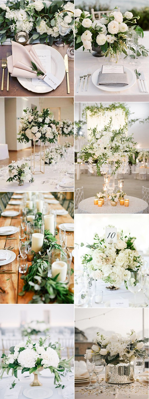 elegant neutral colors wedding centerpiece ideas
