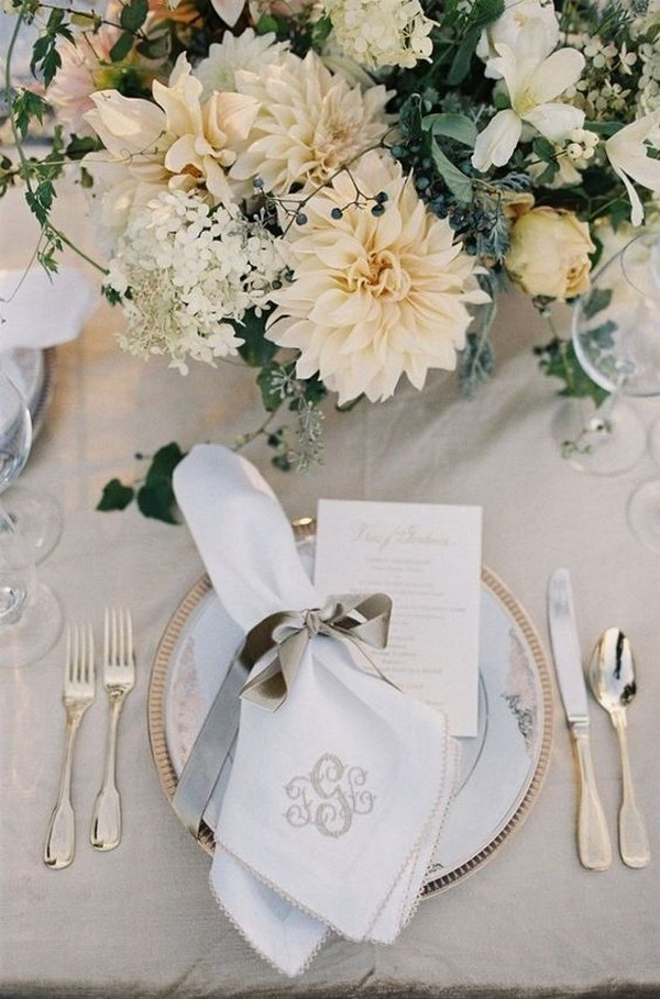 elegant neutral wedding centerpiece ideas 2