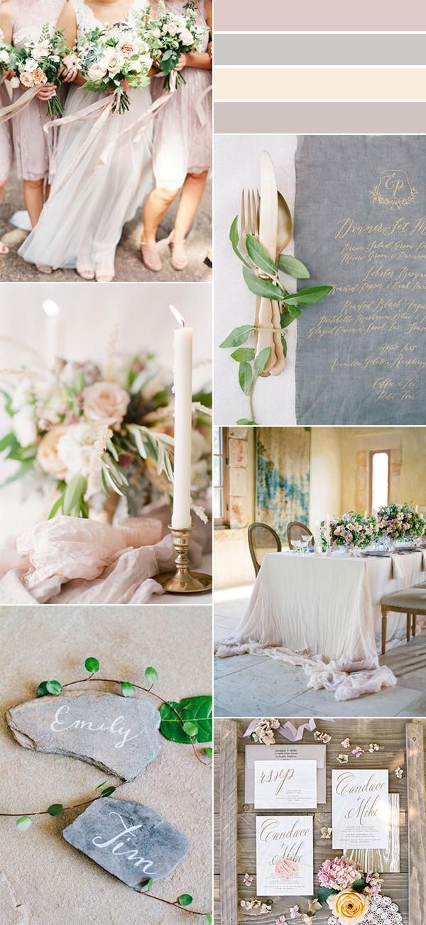 elegant neutral wedding color ideas