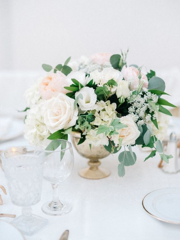 elegant wedding centerpiece ideas with blush pink