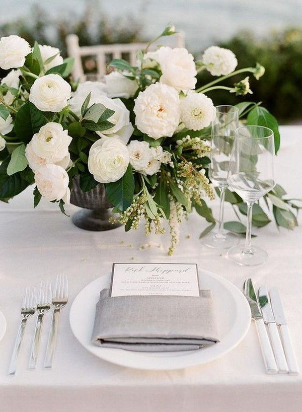 modern neutral wedding centerpiece ideas
