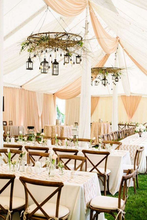 modern tented wedding reception decoration ideas