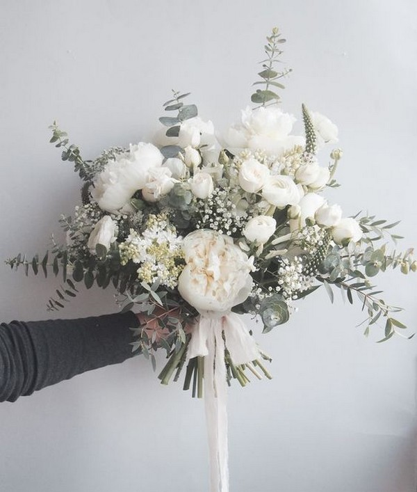neutral colors bridal bouquet ideas