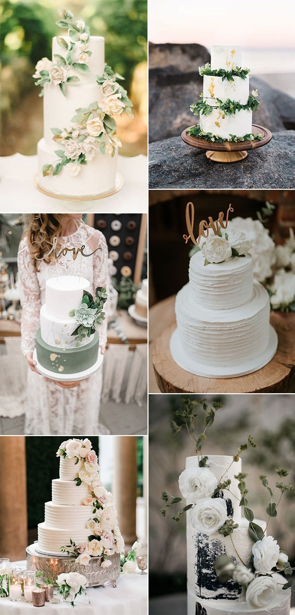 neutral colors wedding cake idesa for 2019