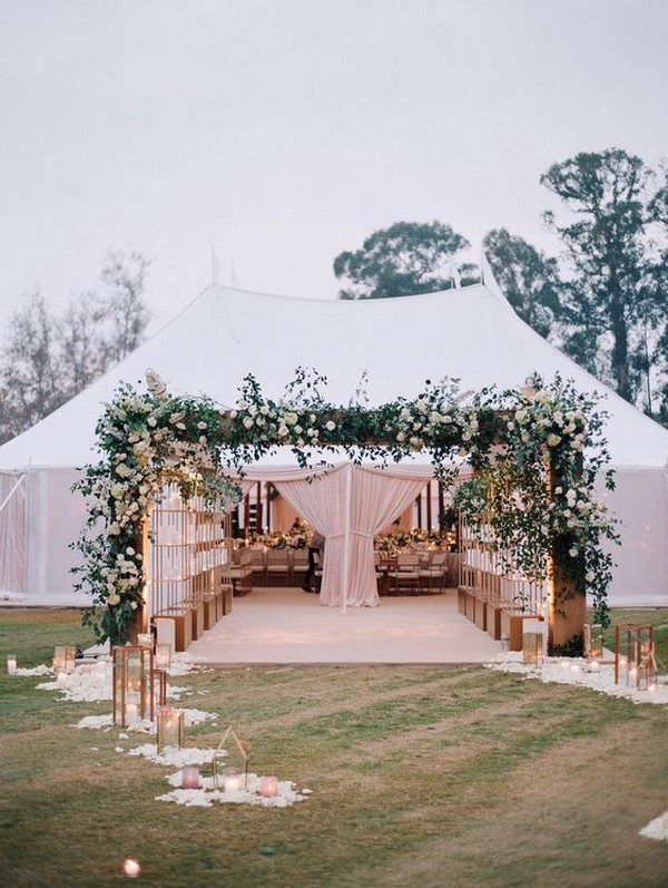 outdoor tented wedding decoration ideas