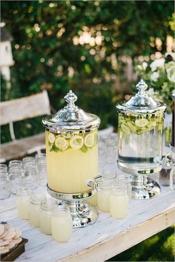 outdoor wedding drink table ideas