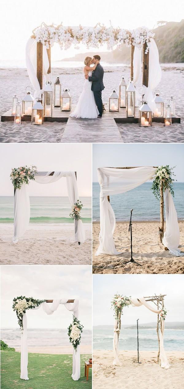 romantic beach wedding arch decoration ideas