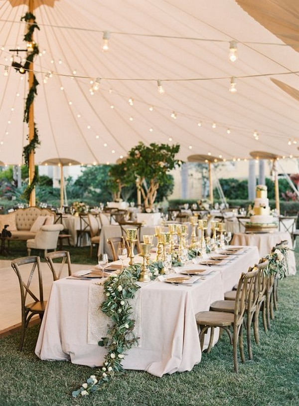 romantic tented wedding reception ideas