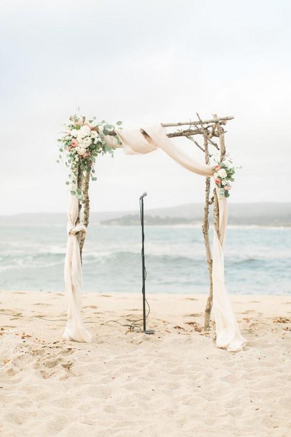 rustic beach wedding arch decoration ideas