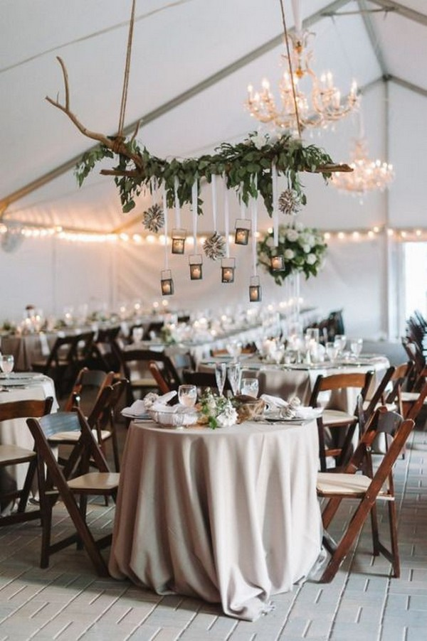 rustic elegance tented wedding reception ideas