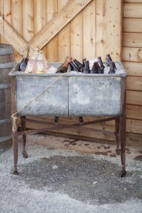 rustic outdoor wedding drink serve ideas
