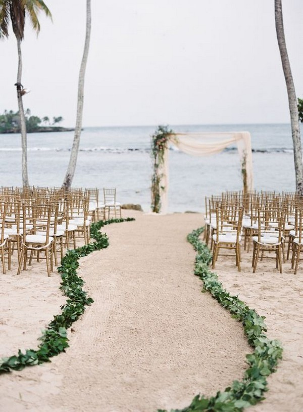 simple beach wedding ceremony decoration ideas