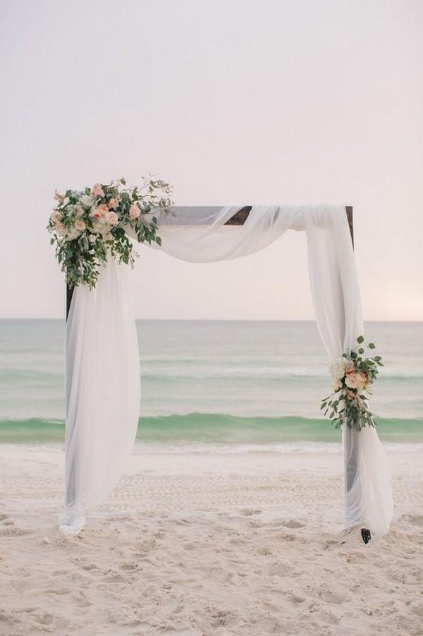 simple elegant beach wedding arch