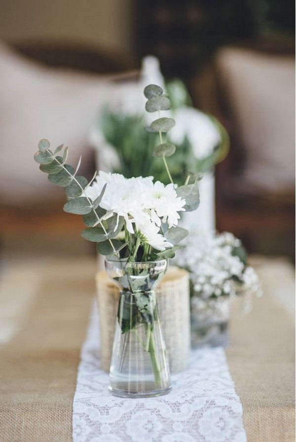 simple greenery wedding centerpiece ideas