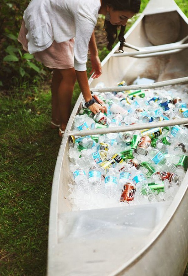 summer wedding drink station ideas