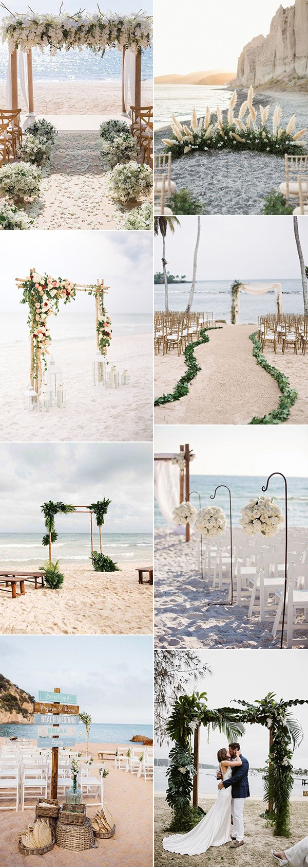 trending beach wedding ceremony decoration ideas