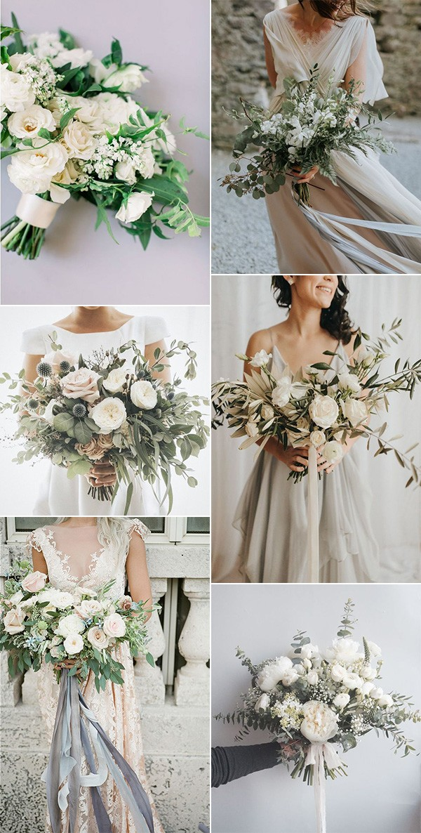 trending neutral wedding bouquet ideas