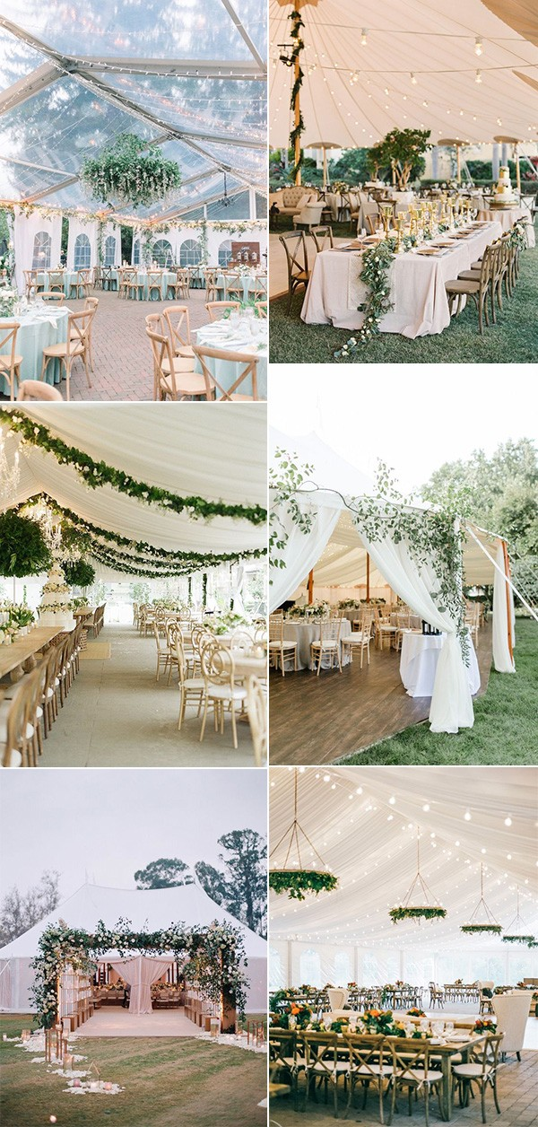 trending tented wedding reception ideas