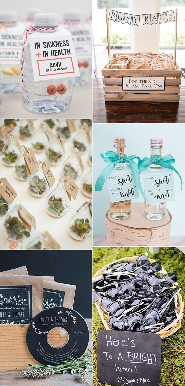trending useful wedding favor ideas