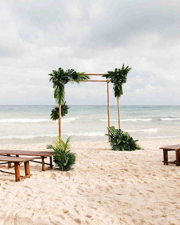 20 Stunning Beach Wedding Ceremony Ideas-Backdrops, Arches