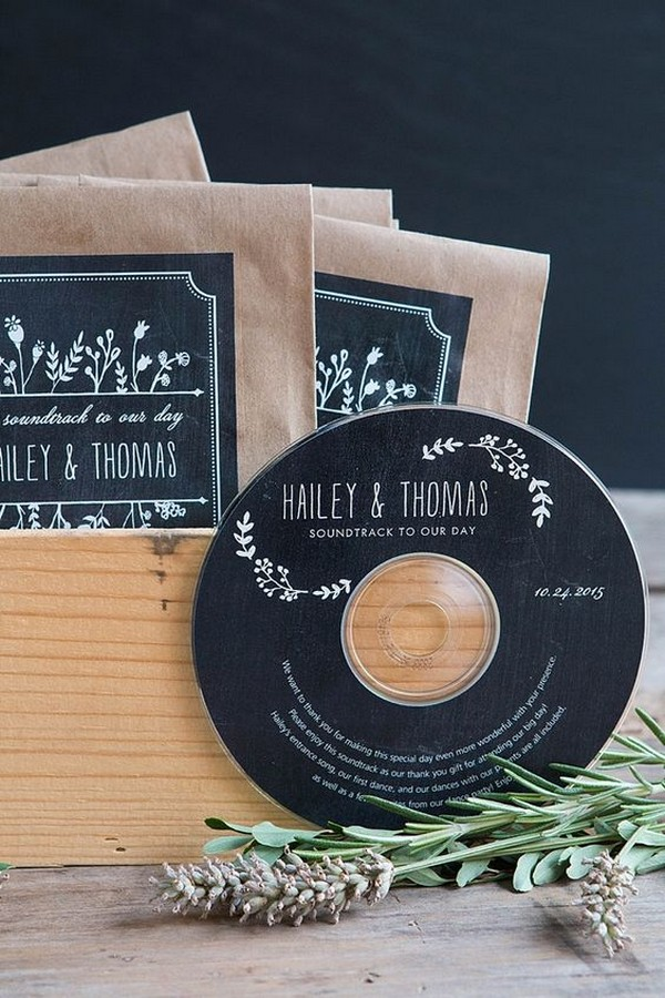 vintage CD wedding favor ideas