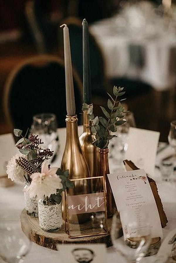 vintage chic wedding centerpiece ideas
