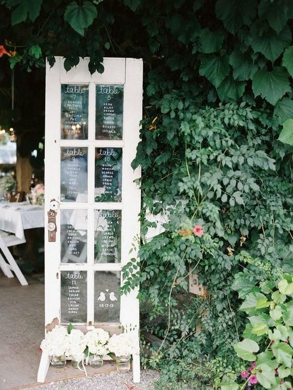 vintage door wedding seating chart ideas