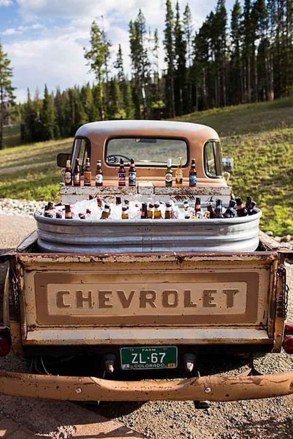 vintage wedding beer station ideas