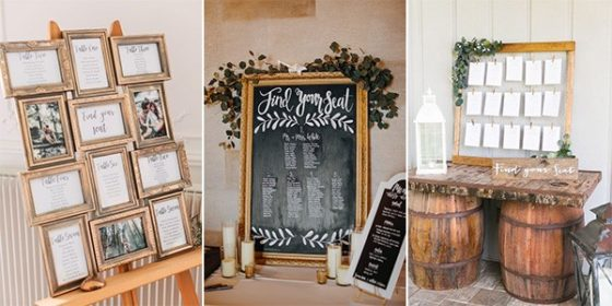 vintage wedding seating chart ideas